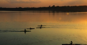 Seyhan Nehri'nde Gün Batımı