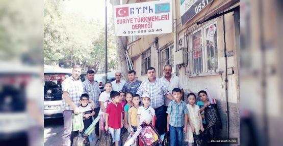 Türkmenlere Kırtasiye Yardımı Geldi