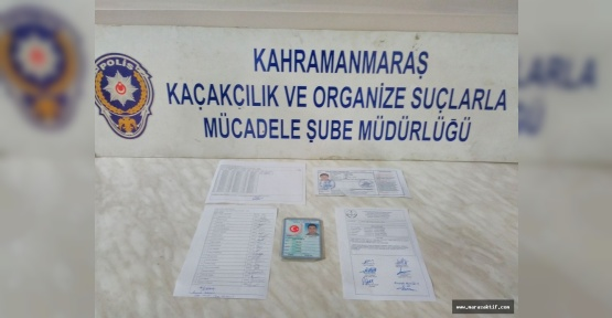 Kahramanmaraş'ta Joker Operasyonu