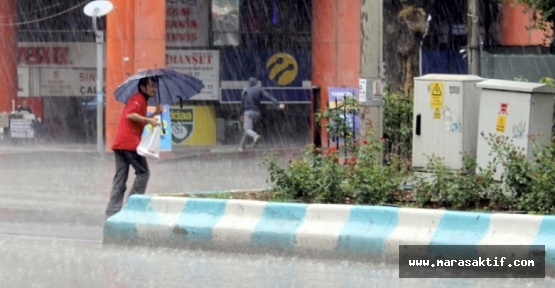 Kahramanmaraş'ta Aşırı Yağış Var Dikkat!