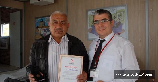 Özel Bağışçılar Madalya Aldı