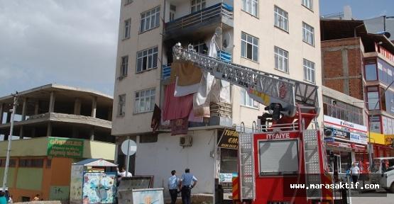 Suriyelilerin Evinde Yangın Çıktı