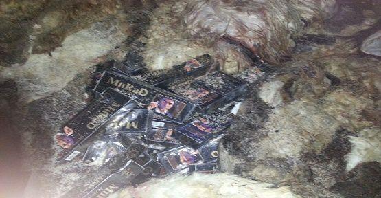 Derilerin Altına Gizlenmiş Sigara Yakalandı