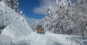 Büyükşehir Yollarda Kar Temizliyor