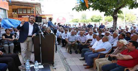 Ünal Pazarcık'ta Bayramlaştı