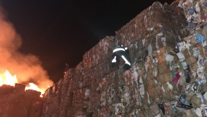 Kağıt ve Ambalaj Fabrikasında Çıkan Yangın 1