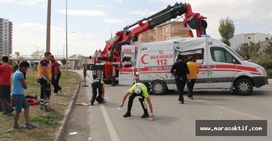 Ambulansla Otomobil Çarpıştı 1 Ölü