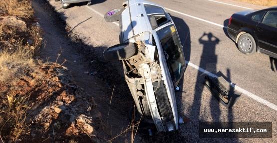 Kahramanmaraş'ta Taksi Takla Attı 3 Yaralı