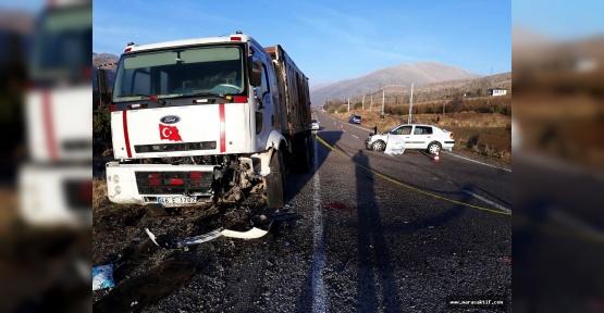 Kahramanmaraş'ta Kaza 1 Ölü, 2 Yaralı