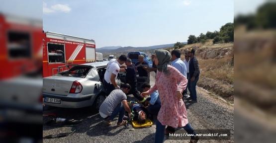 Kahramanmaraş'ta Kaza 1 Ölü 6 Yaralı