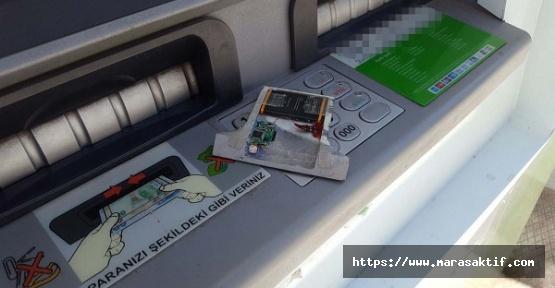 ATM'deki Kopya Cihazını Polis Buldu