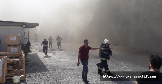 Kahramanmaraş'ta Fabrika Yandı
