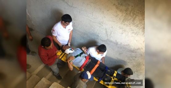 Kahramanmaraş'ta İşçi İnşaattan Düştü