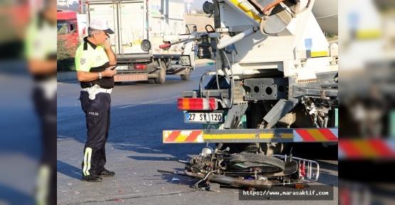 Kahramanmaraş'ta Kaza 1 Ölü