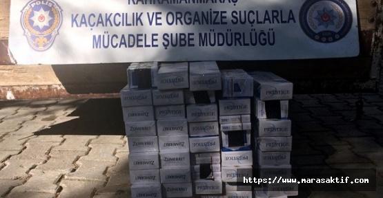 Kahramanmaraş'ta Sigara Ele Geçirildi