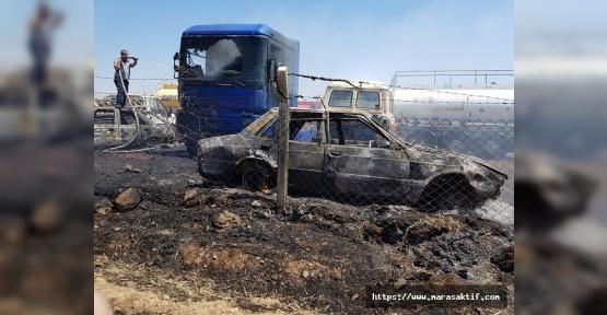 Yediemin Parkında Yangın Çıktı