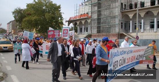 Afşin'de Yürüyüş Yapıldı