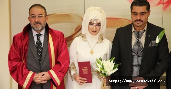Afşin'de 646 Çift Evlilik Yaptı