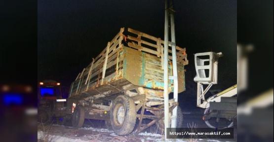 Elektrik Çarpan Sürücü Öldü
