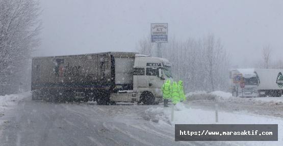 Kahramanmaraş'ta Kar Bastırdı