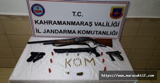Kahramanmaraş'ta Silah Ele Geçirildi