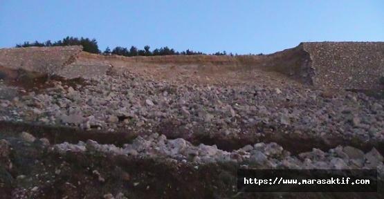 KÇY'de İstinat Duvarı Çöktü