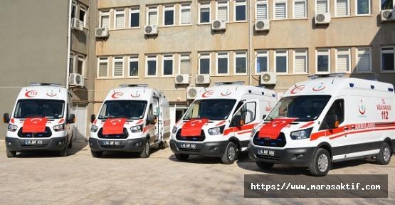 Kahramanmaraş'a 4 Tane 4x4 Ambulans Geldi