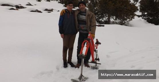 Kar Bisikleti Yaptı