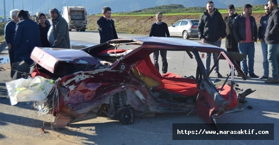Kazada 1 Ölü 2 Yaralı