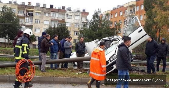 Direğe Çarpan Sürücü Öldü