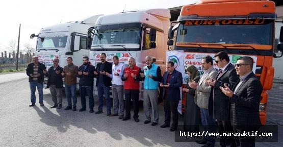 Kahramanmaraş'tan Suriye'ye Yardım Gitti
