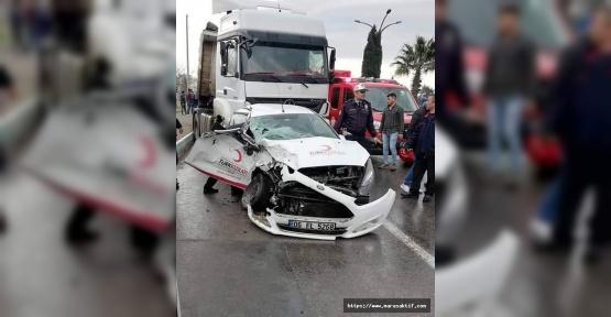 Tırla Otomobil Çarpıştı 2 Yaralı