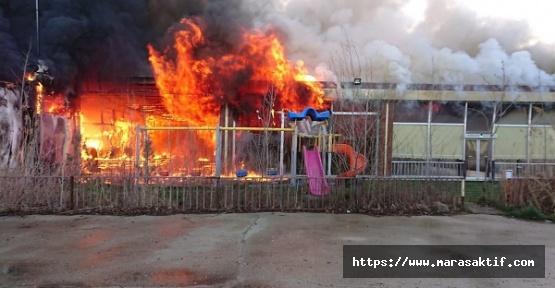 Alabalık Tesisinde Yangın Çıktı
