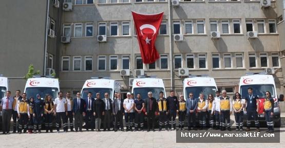 Kahramanmaraş'a Yeni Ambulanslar Geldi