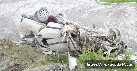 Kahramanmaraş'ta Kaza 1 Ölü 3 Yaralı