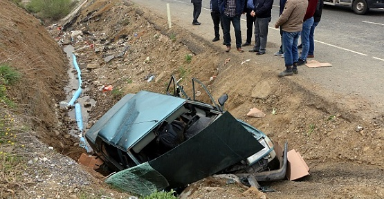 Otomobil Devrildi 4 Kişi Yaralandı