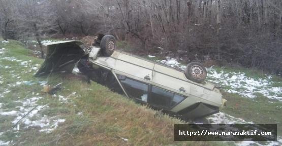 Otomobil Dereye Düştü