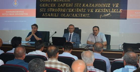 KSÜ, Kilis'te Öğretmenlerle Buluştu