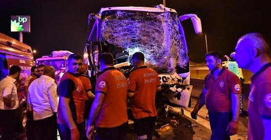 TAG'da Zincirleme Kaza 14 Yaralı