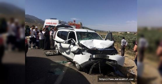Trafik Kazasında 13 Kişi Yaralandı