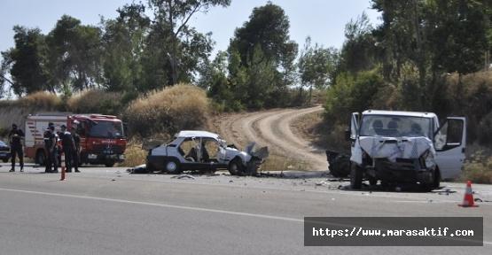 İki Otomobil ve Kamyonet Kazası 1 Ölü 7 Yaralı