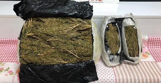 Kahramanmaraş'ta 12 Kilo Esrar Ele Geçirildi