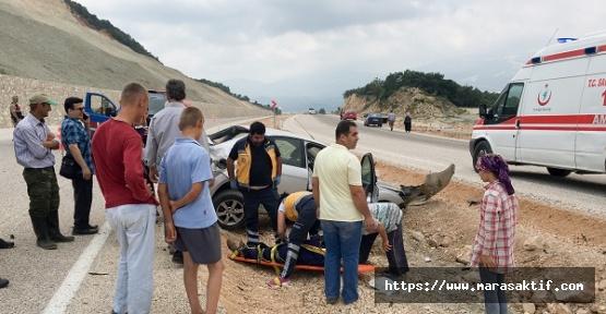 Kontrolden Çıktı Duvara Çarptı 6 Yaralı