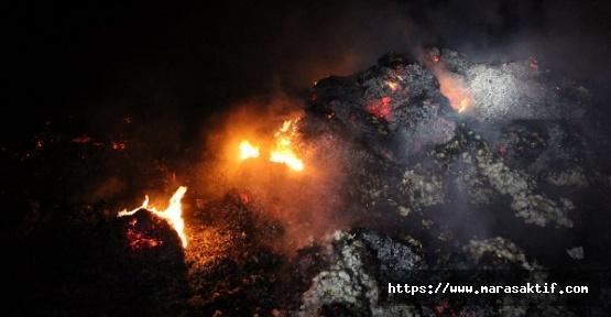 Pamuk Kamyonunda Yangın Çıktı