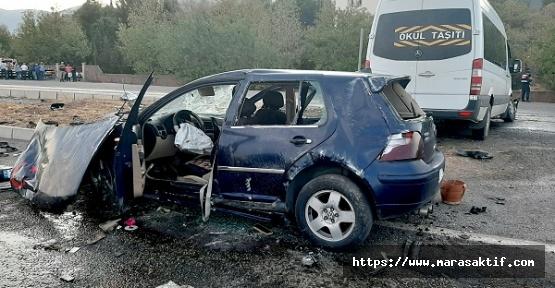 Türkoğlu'nda Kaza 1 Bebek Öldü, 16 Kişi Yaralandı