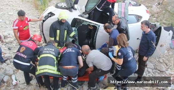 Trafik Kazasında 2 Yaralı