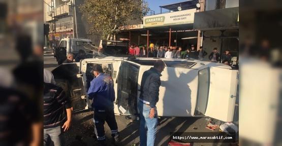 Dulkadiroğlu'nda Otomobil Devrildi