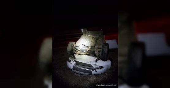 Otomobil Devrildi 3 Yaralı