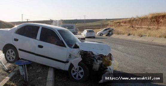 Otomobiller Kaza Yaptı 5 Yaralı