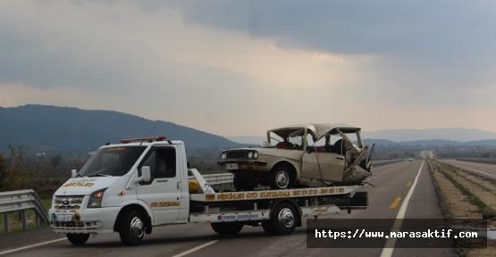 Otomobil Tankerle Çarpıştı